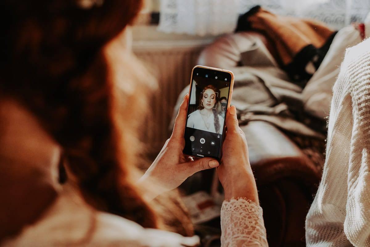 selfie na ślubie