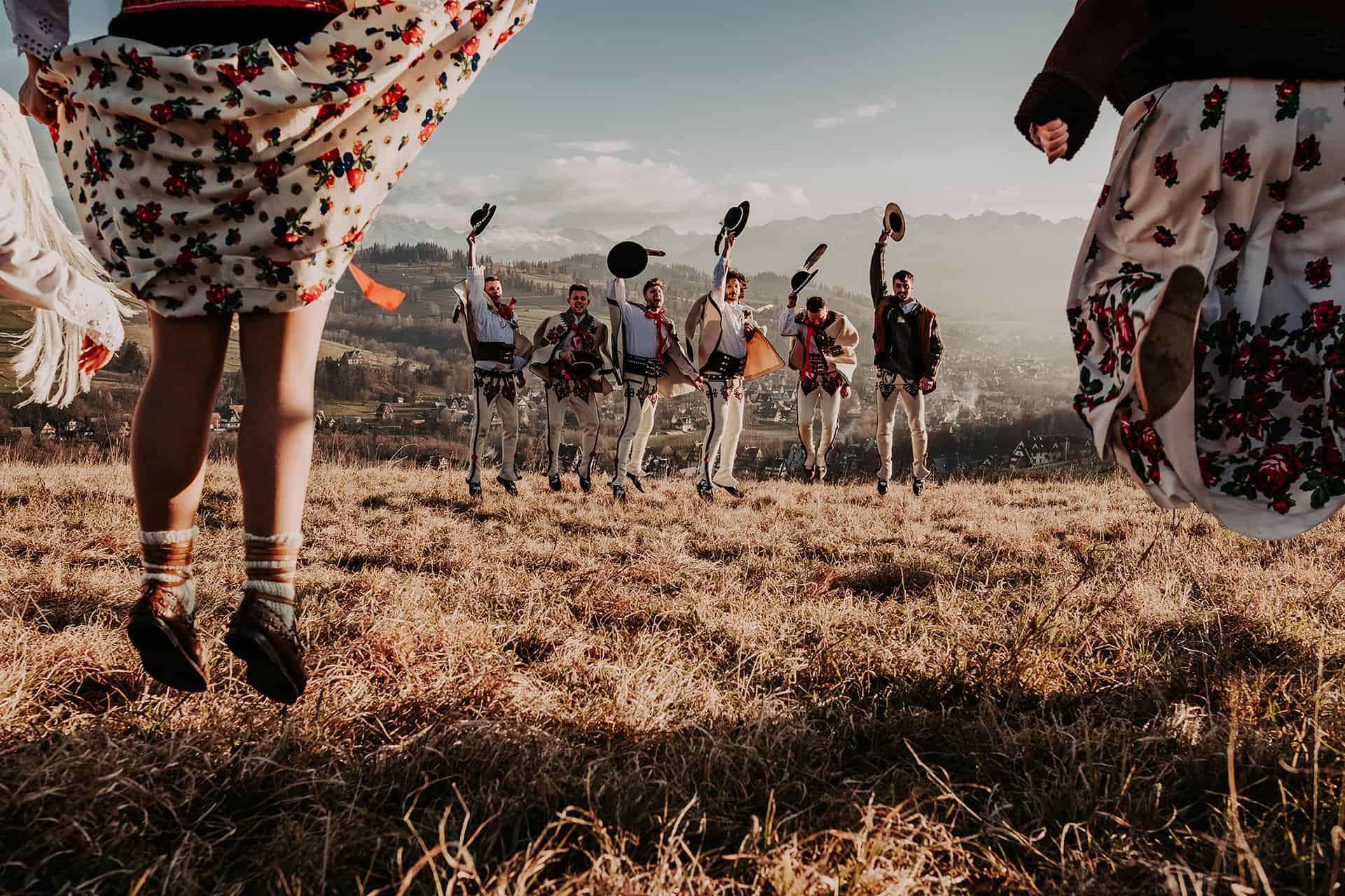 góralskie wesele zdjęcie grupowe